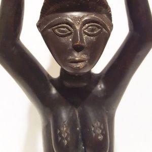 Wooden  African Woman Fertility Sculpture
